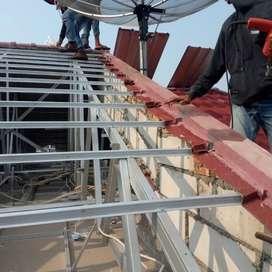 Pelayanan konstruksi baja ringan renovasi rumah perbaikan atap dll