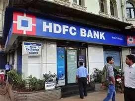Immediately hiring candidates for HDFC bank pvt.ltd.