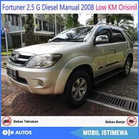 Fortuner 2.5 G Diesel Manual 2008 Low KM Orisinil Bisa Kredit