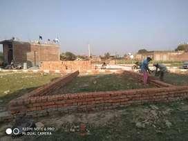 जीटी रोड चौबेपुर रेलवे स्टेशन पास2लाख25 हजार में 50गज प्लाट तुरंत मकान