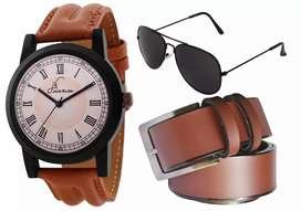 Watch,Belt & Sunglasses at Effective Price