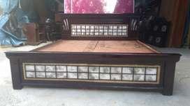 Yrk brand new teak wood queen size storage -cot.5x6.3