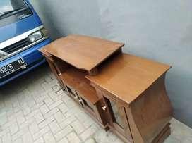 meja tv kayu asli paten panjang 150 cm anti reyot