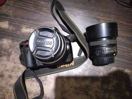 Nikon D5200 with Kit lens and 50mm 1.8 G