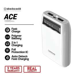 Powerbank Delcell Ace 10500 mAH REAL CAPACITY