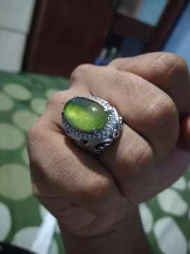 Jual batu cincin idocrase pupis lumut bukan bacan