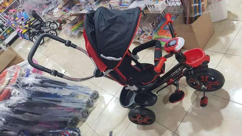 Sepeda roda tiga stroller trex 0