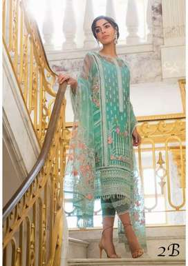 *SOBIA NAZIR*   Full Embroidered Net Front with side paneli