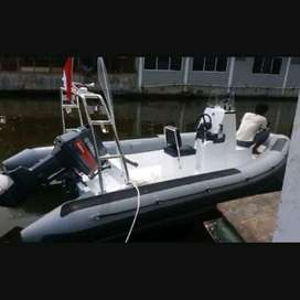 Rigid Inflatable Boat 5 meter include engine 60 pk material hypallon