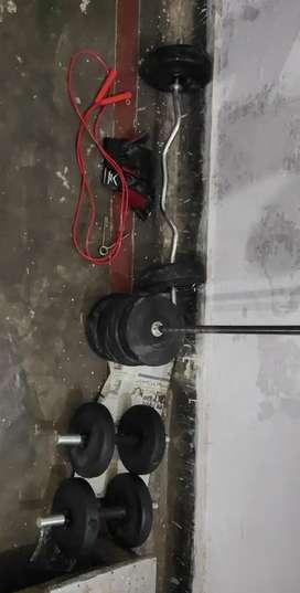 Gym Equipment 20kg Dumbbells,Rod And Ez Rod