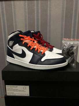 Nike air jordan mid obsidian 45