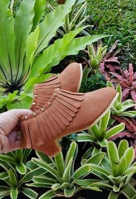 heels boot anak brown import