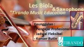 Les & Kursus Biola Surabaya, Les & Kursus Saxophone Surabaya TIRANDO