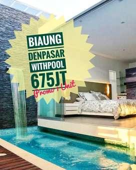 Rumah Style Villa Isi Pool di Denpasar Timur Murah Saja