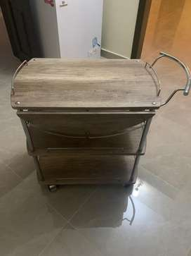 Trolley winged table