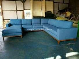 Sofa tamu L FREE ONGKIR