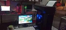 Full sett PC Core i3 + Printer Scan Ok Normal
