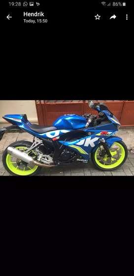 Suzuki Gsx 150r gsxr 150 2017 blue biru