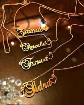 Customized Gold Plated Necklace