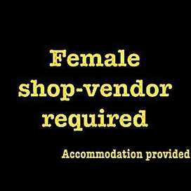 Female coffee shop vendor executive required