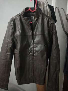 Leather brown jacket. Size-42
