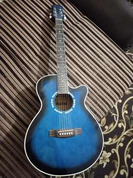 Guitar for sell blue colour Lush condition