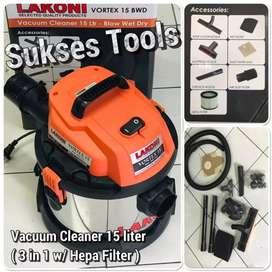 Vacuum cleaner mesin sedot vortex 15 bwd garansi lakoni tasikmalaya
