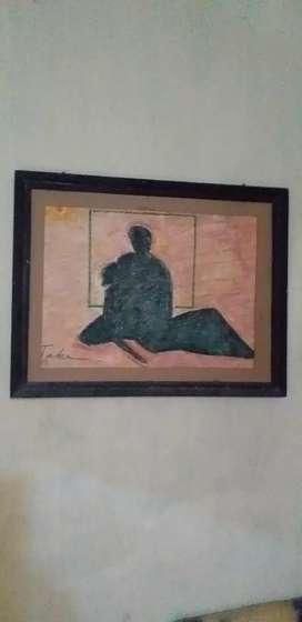 Lukisan krayon karya Topek