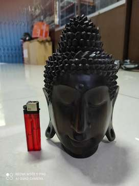 Ukiran kayu merah kepala budha Sidharta Gautama