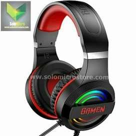 Headphone Earphone Headset usb Gaming RGB Gamen GH1100 Pro