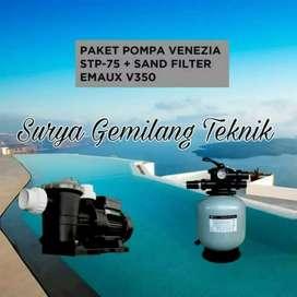 Pompa Kolam Renang Paket Kolam Renang Venezia stp 75+Sand Filter Emaux