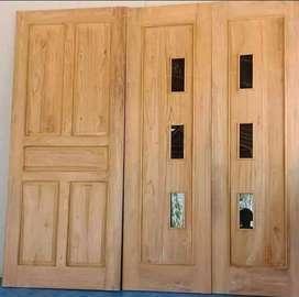 (promo spesial) pintu kusen kayu jati
