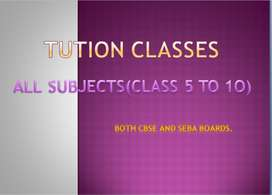 Tution classes at Tezpur For all subjects.