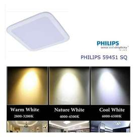 Lampu Ceiling Led Petak Square PHILIPS MESON 9w 9 Watt 59451 Tanam