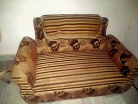 6 seater sofa set with wooden tabel