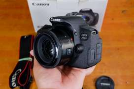 Canon 700d lensa fix yn 50mm f1.8