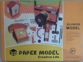 Mainan kertas lipat 3D paper craft