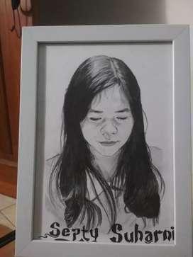 Lukisan wajah,sketsa wajah
