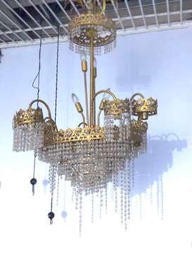 Jual lampu antik kristal, harga bisa nego