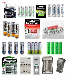 (Cash On Delivery) Rechargeable Cell AA AAA And Charger