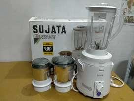 Sujata SuperMix SM Mixer Grinder, 900W, 3 Jars  with 2 year warranty