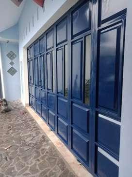 Pintu ruko/toko/garasi desain ukuran sesuka suka.  Murah berkualitas
