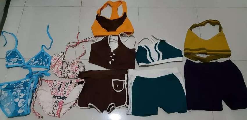Baju renang dan senam (semua 5psc sepasang and 1 atasan ) 0