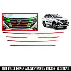 List Cover Grill All New RUSh TERIOS Merah^^KIKIM VARIASI^^