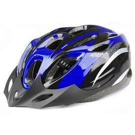 TaffSPORT Helm Sepeda Lipat Seli Mtb Gunung EPS Foam PVC Biru