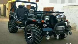 Open black modified Willy jeep