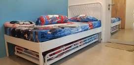 Tempat Tidur Susun 2 Kasur Rangka Besi