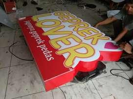 Neonbox lightbox sign ayam geprek
