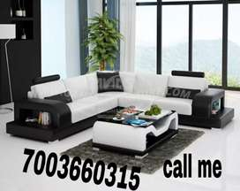 Black and white with center table sofa sets