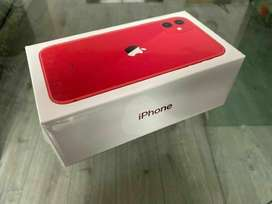 Apple Iphone 11 red colour 128gb brand new unbox and unopen in sealed
